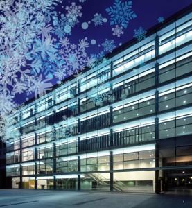 Edificio con copos