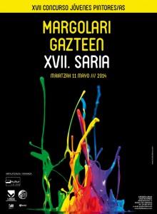 Cartel Margolari Gazteak